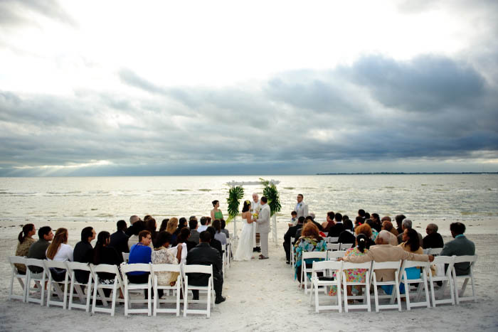 Pink Shell Sunset Beach Wedding Fort Myers