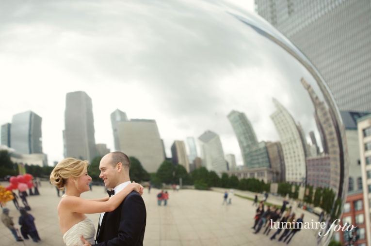 Downtown Chicago Destination Wedding Photographers